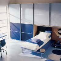 Blue Kids Bedroom Interior