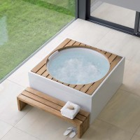 Blue Moon Pool with acrylic panelling and wooden inserts