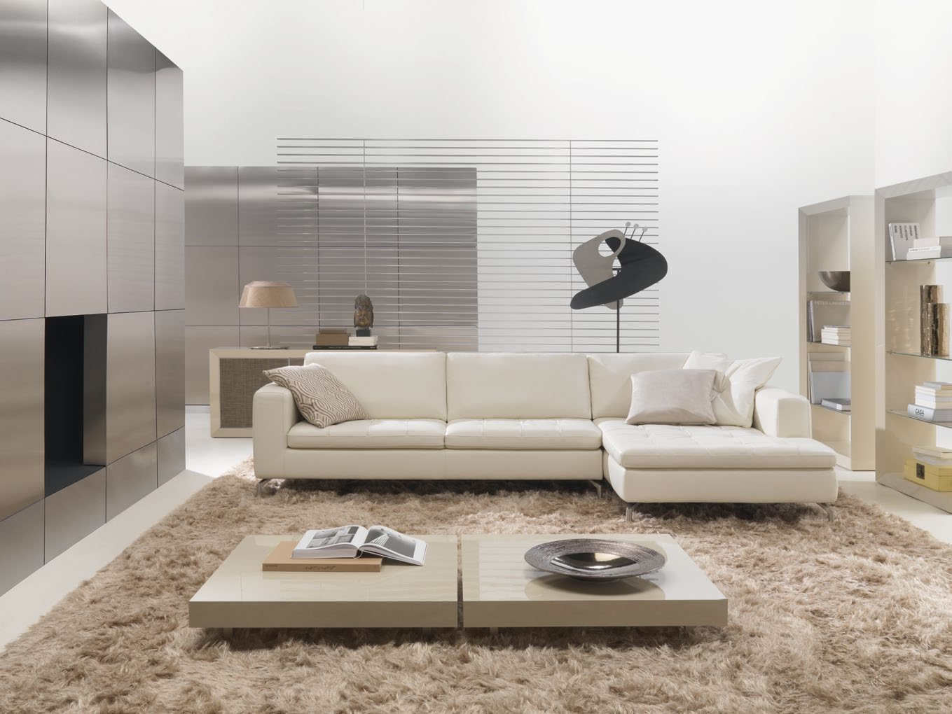 ... Room Design Ideas by NATUZZI » Bright Living Room with Savoy Sofa set