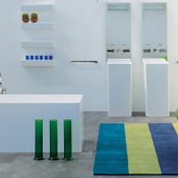 Compact and Colorful Bathroom