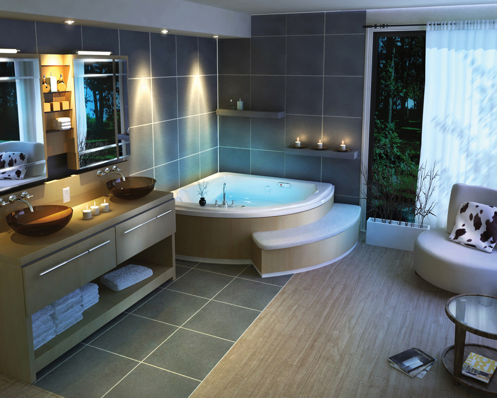Corner Bath Tub: home bathroom designs