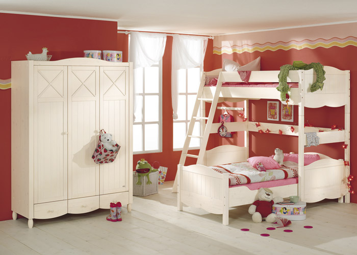 Corner-bunk bed Claire - loft bed combination with diagonal ladder and ...