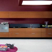 Erice Kitchen Design with Teak Abaco finish for the doors