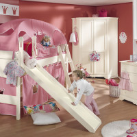 Girl's room with case furniture Sylvie in combination with playing bed Claire