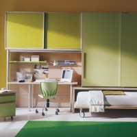 Green Childrens Bedroom Interior