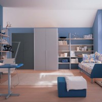 Kids Study Room in Blue