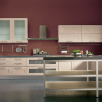 Levanto Kitchen Design with advanced solutions for the Rovere White finish composition