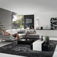 Living Room in Grey with Releve Modular Sofa