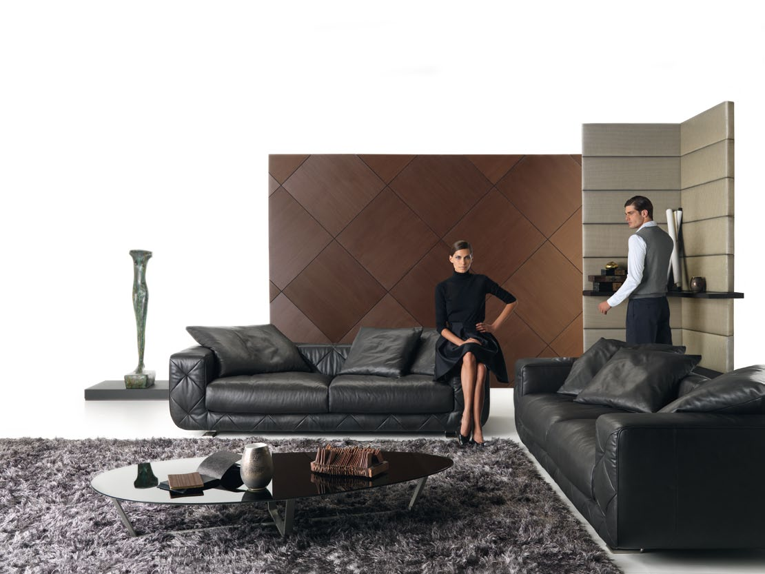 room design ideas by natuzzi living room with black soprano sofa