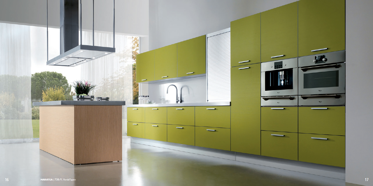 Maratea kitchen design with doors in a verde yapen finish for Simple home interior design kitchen