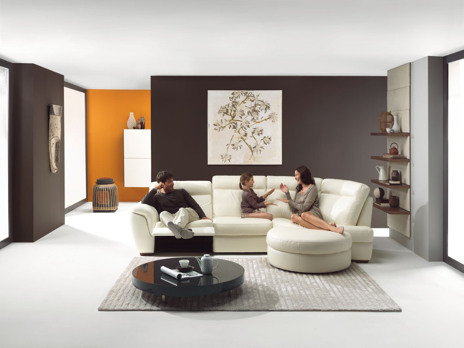 Modern compact living room - Decorar salon grande ...