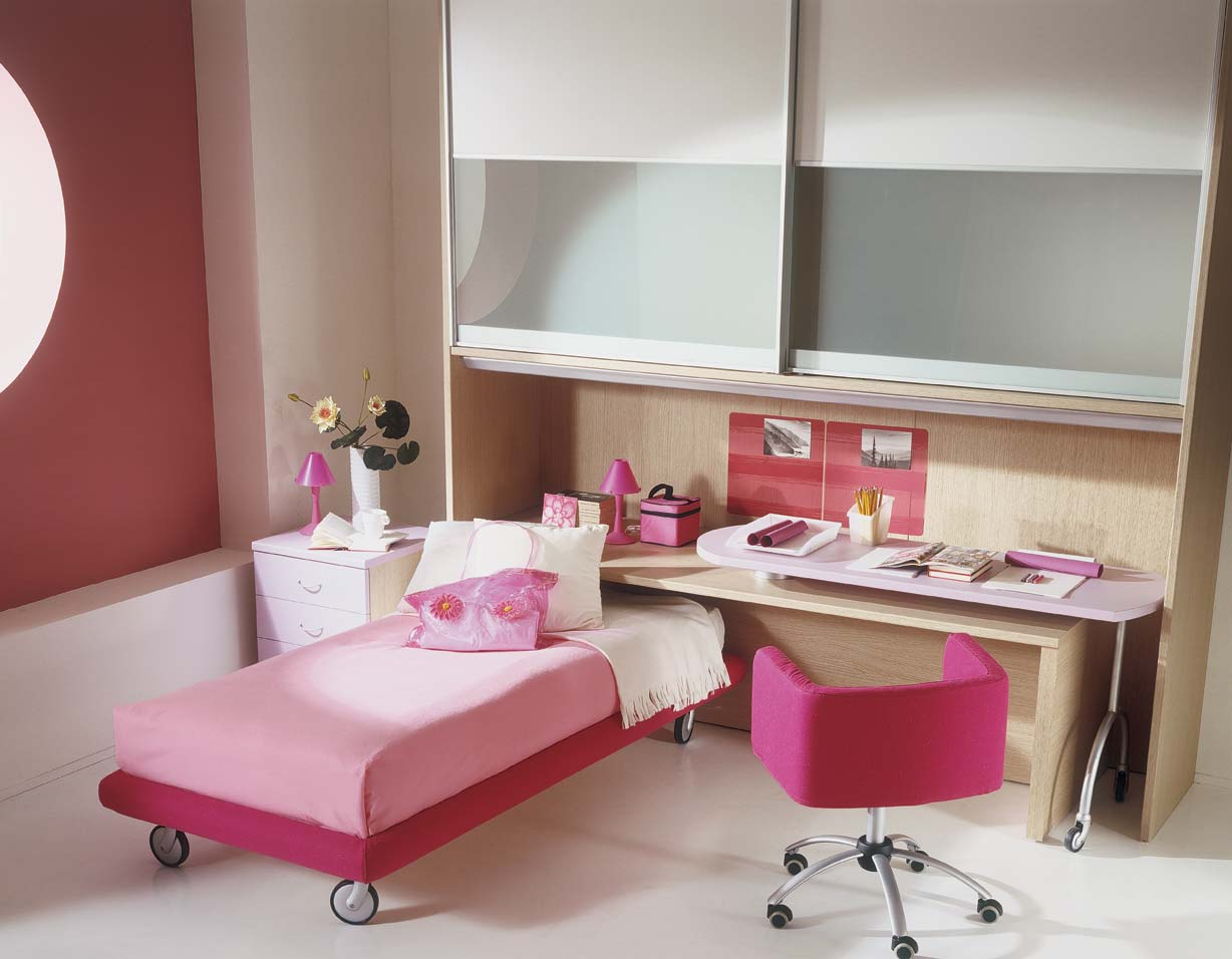 Pink kids bedroom interior for Interior design bedroom pink