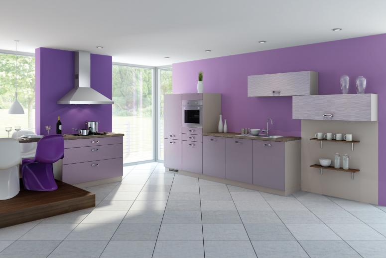 purple kitchen decor