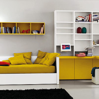 Teen Bedroom Ochre White