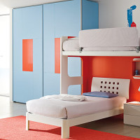 Teen Bedroom Orange - Blue