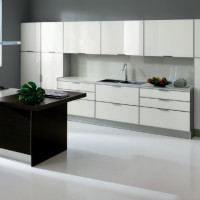 Tropea Kitchen Design with Rovere Grigio finish