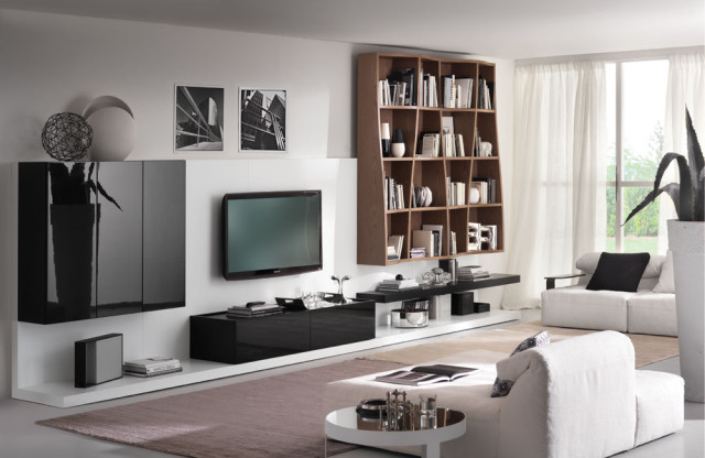 Blach and White Living Room Concept