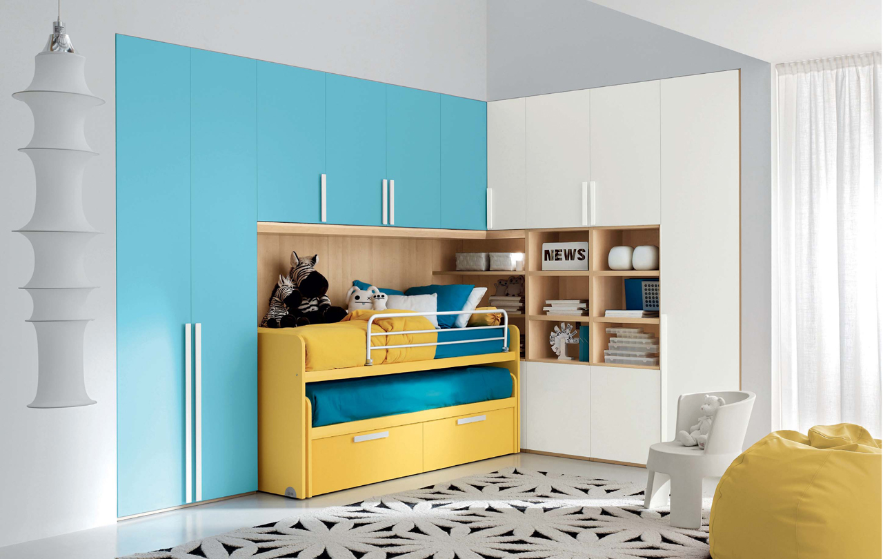 Pleasant Kids Bedroom Designs by DIELLE | Featured, Italy, Kids ...