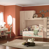 Classic Kids Bedroom with Bunk Beds