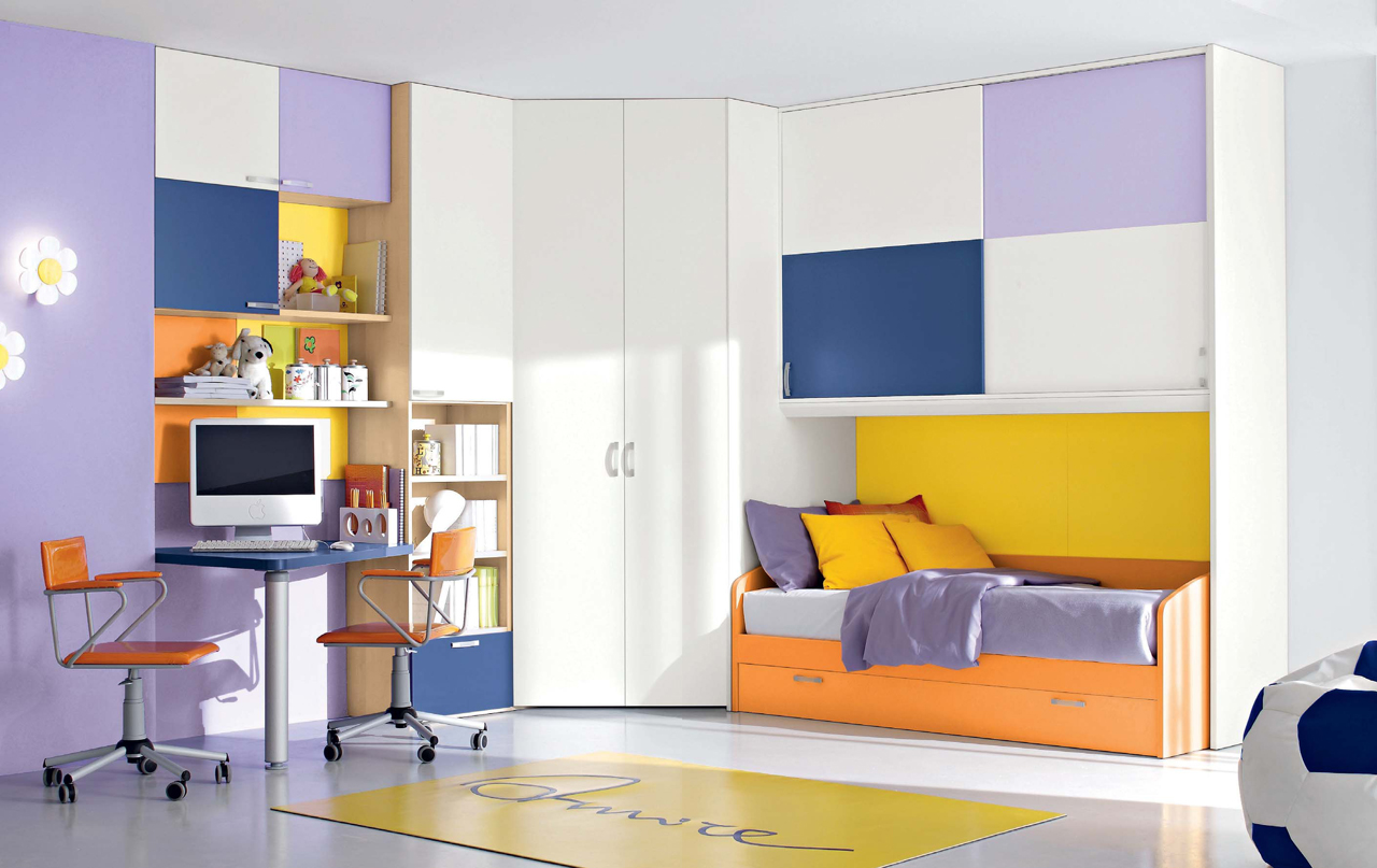 Colorful Kids Room Design: Colorful Bedroom