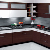 Dark Brown Moody Woody Kitchen Design