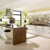 Gloss Shaker White Kitchen Design