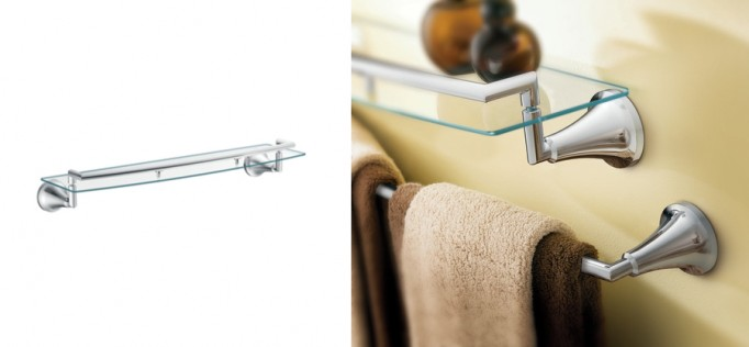 Icon Chrome vanity shelf