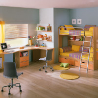Kids Room with Study Table