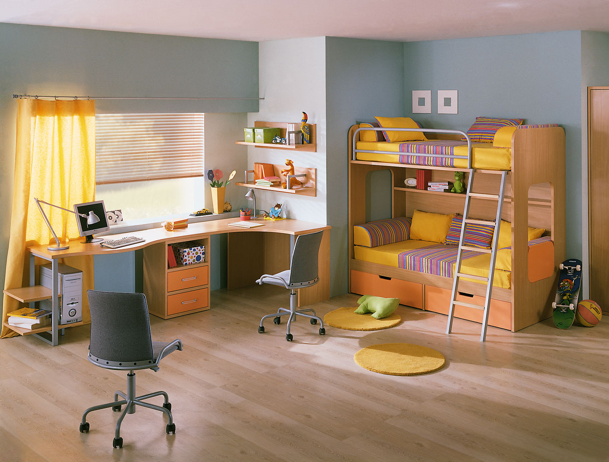 Kids room with study table for Table for kids room