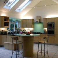 Kitchen with Large Skylights
