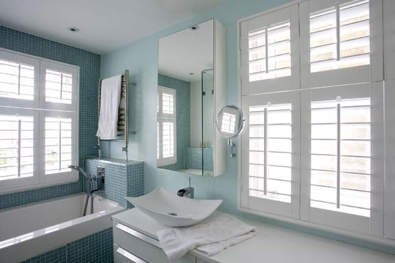 Light Blue Bathroom Interior Design