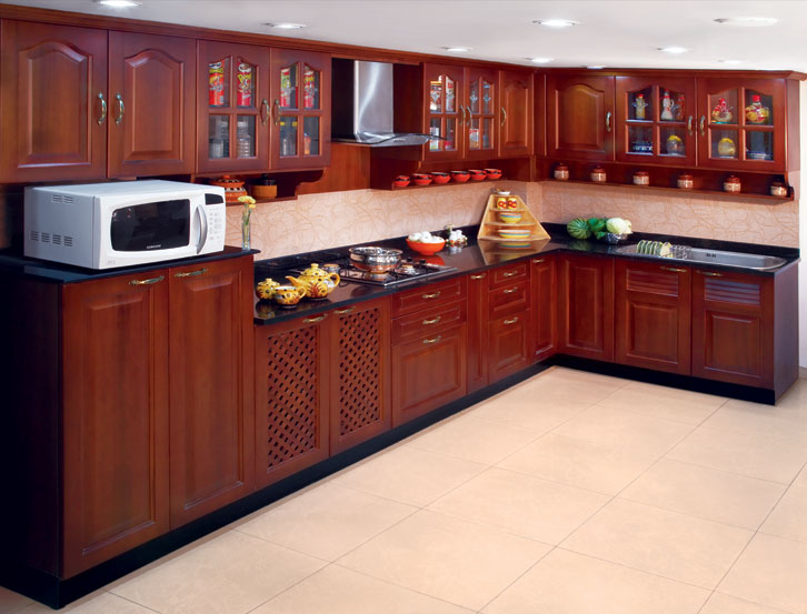 Solid wood kitchen design for Kitchen designs pictures