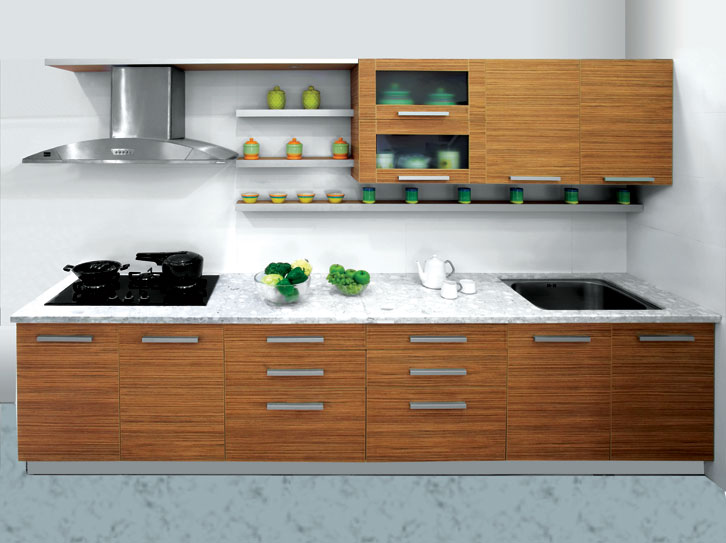 Tigress wood space saving kitchen design for Indian style kitchen design images