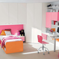 White - Pink Girls Bedroom