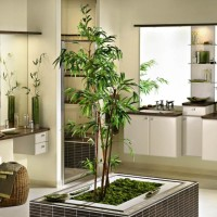 Bathroom Interior with Plants