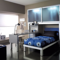 Blue and Grey Teen Bedroom