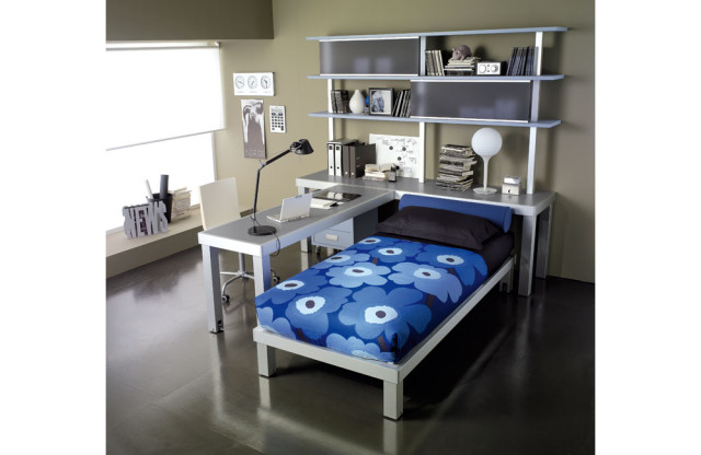 Blue and Grey Teen Bedroom Concept