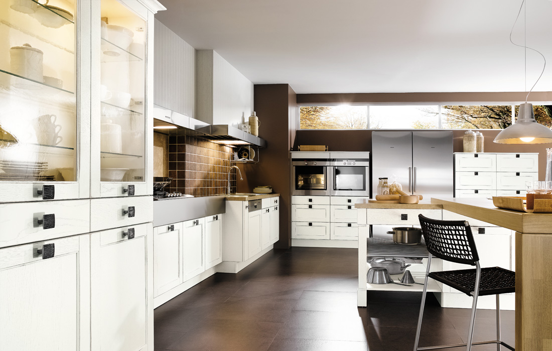 brown white kitchen design