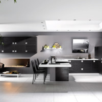 Brown and White Kitchen Decor with Plants