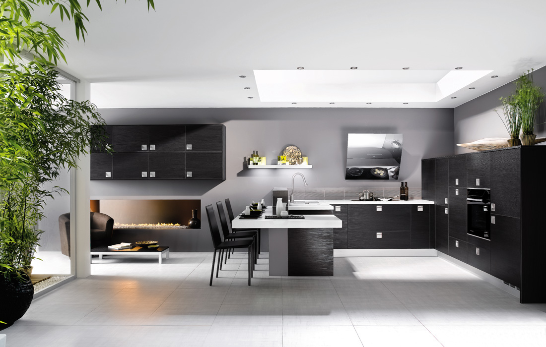 brown white kitchen designs