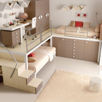 Bunk Bed Teen Bedroom