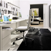 Compact White Home Office Design