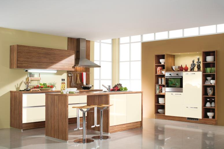 Kitchen Designs from Bauformat ? Cream ? Brown Kitchen Decor Ideas
