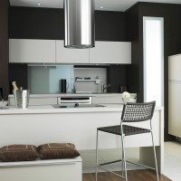 Dark Brown White Kitchen Decor