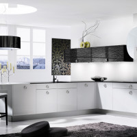 Descent Black and White Kitchen Design