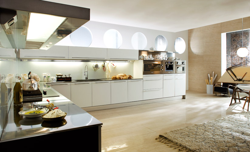 Elegant kitchen interior design for Elegant modern kitchen designs