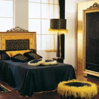 Golden Bedroom Interior