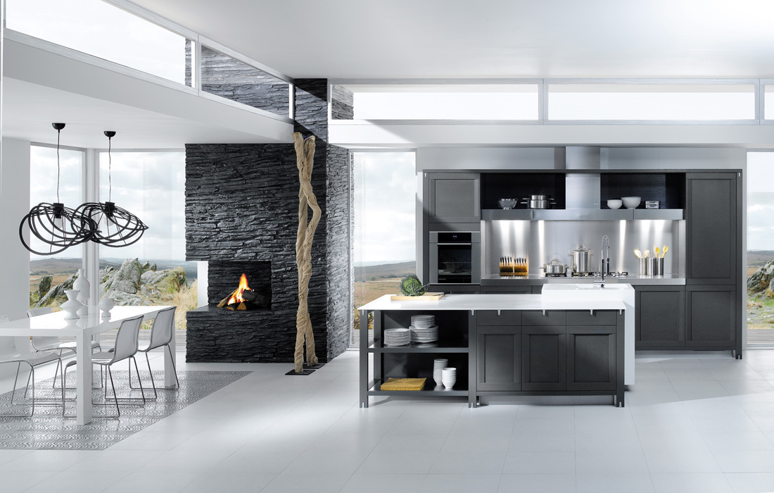 Grey White Kitchen Design