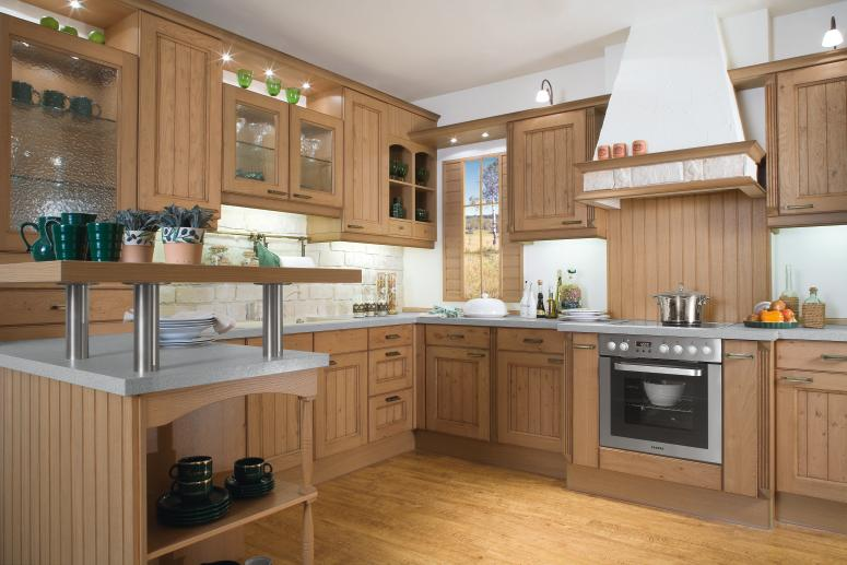 Country Kitchen Designs from Bauformat ? Light Wood Kitchen Design