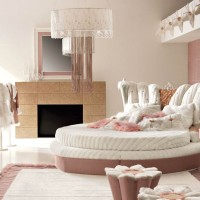 Luxurious Pink Bedroom Interior for Girls